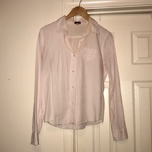 Pink striped button down shirt